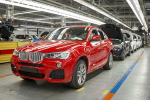 BMW Manufacturing's X4 in assembly on 4/25/14. File: 042514GR34